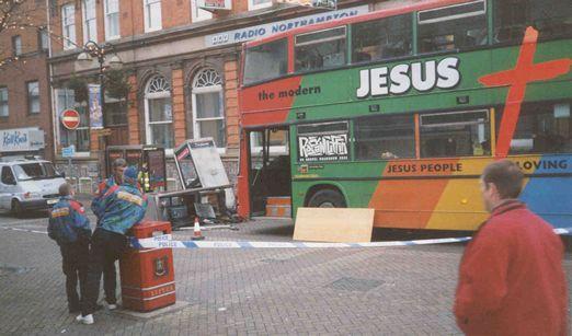 A Jesus Army Bus in Northampton